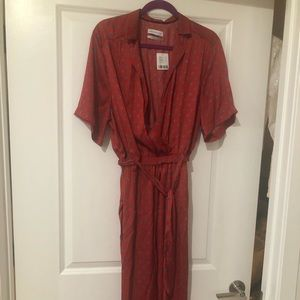 UrbanOutfitters Red Wrap Jumpsuit NWT